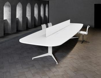 Bureau bench avec séparations