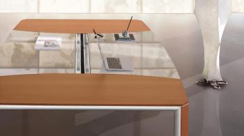 DARCH Table de réunion carrée verre et bois