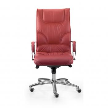 Fauteuil BOSS cuir rouge dile