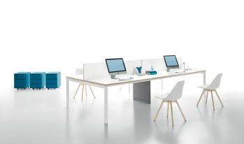 Table YARD plateau bois laqué