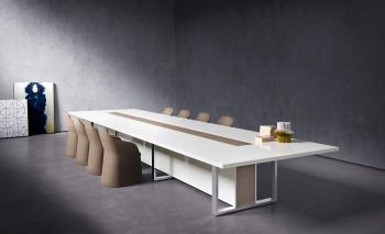 Table de conférence en bois laqué