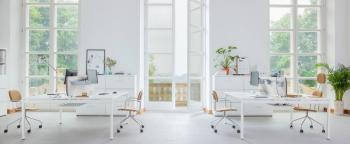 bureaux bench blanc