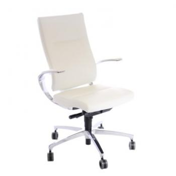 Fauteuil IN TOUCH cuir BLANC