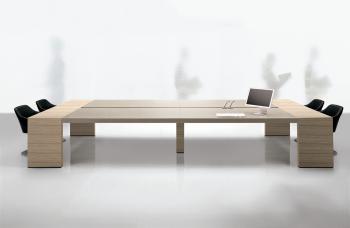 Table de réunion bois laqué