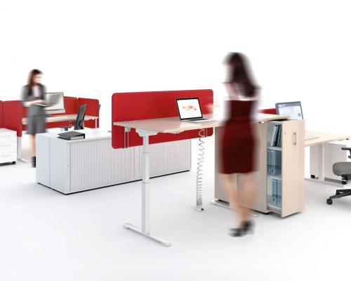 Bureaux réglables en hauteur