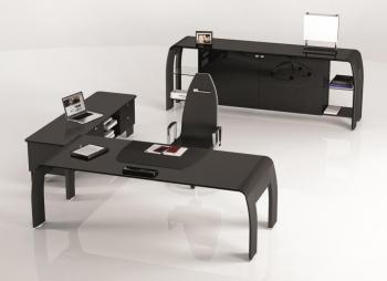 Bureau design rouge & noir