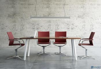 Table de réunion 4 pieds opérateur