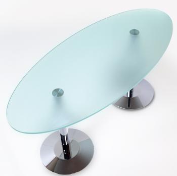 Table elliptique verre LUXE