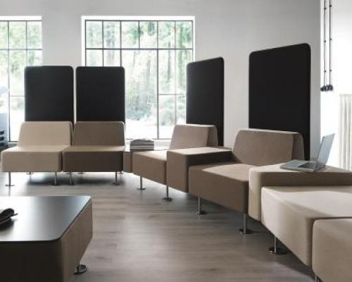 Systeme banquette accueil modulable