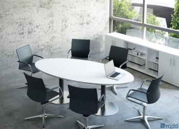 Table de réunion ovale opérative