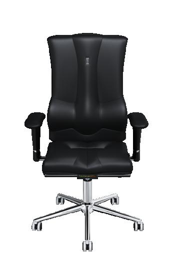 Fauteuil ergonomique accoudoirs réglables soutien lombaire ELEGANCE cuir noir