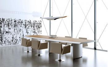 Table de réunion deux couleurs Arco