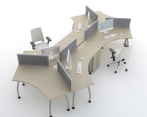 Bureaux bench en étoile