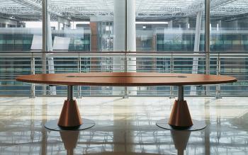 Table de réunion ovale ZEBRANO