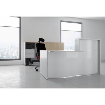 Banque accueil  design blanche