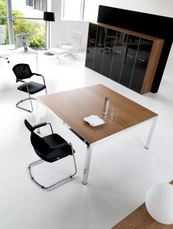 Fly table de réunion armoire portes verre