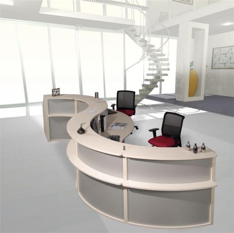 banque d 39 accueil elegance orange. Black Bedroom Furniture Sets. Home Design Ideas
