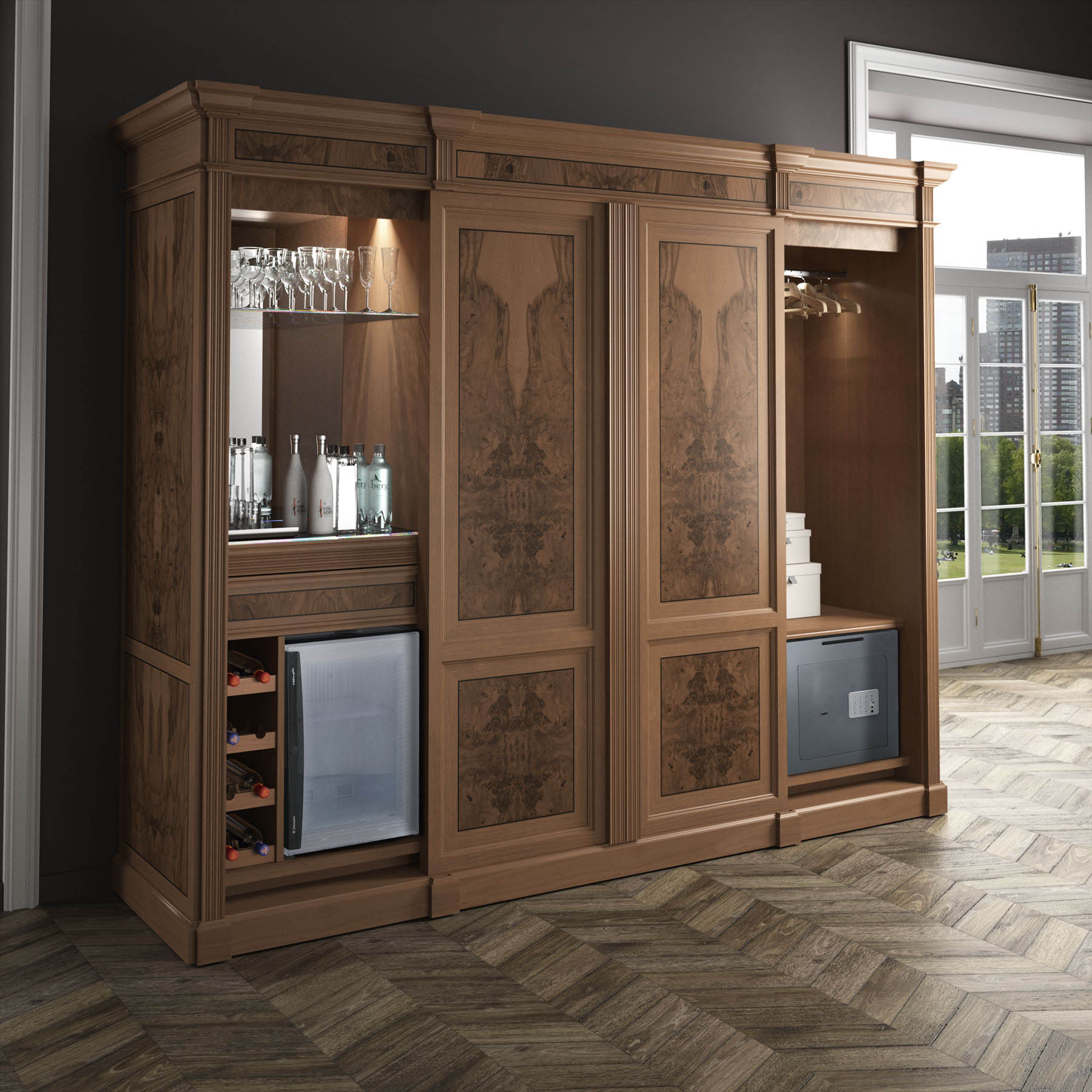 Meuble haut bureau bureau droit epure 140x80 avec meuble for Meuble bureau haut