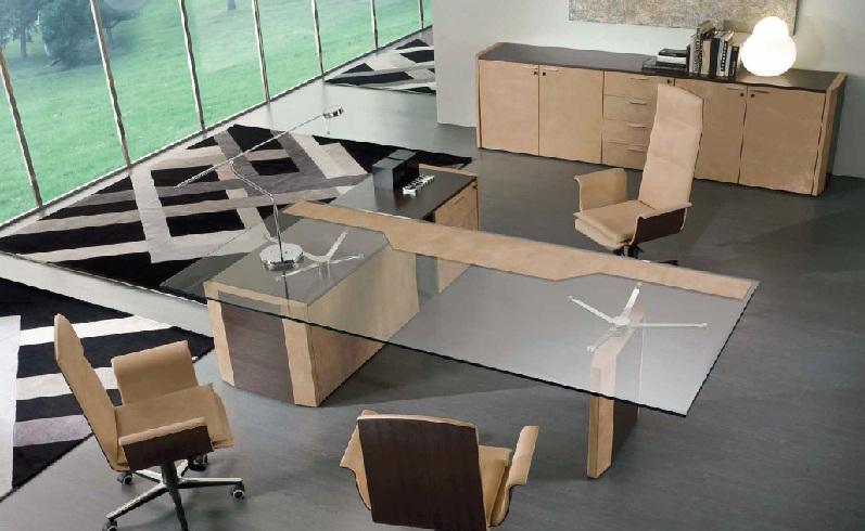 Bureau avec plateau en verre le plateau de bureau en verre pour