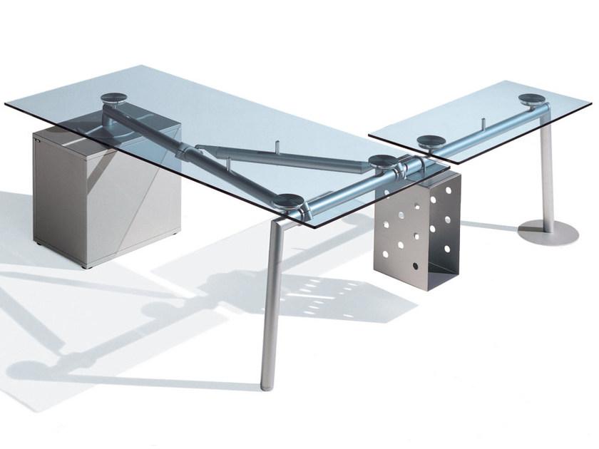 vente bureau ligne isotta plateau verre bureaux de verre montpellier 34. Black Bedroom Furniture Sets. Home Design Ideas