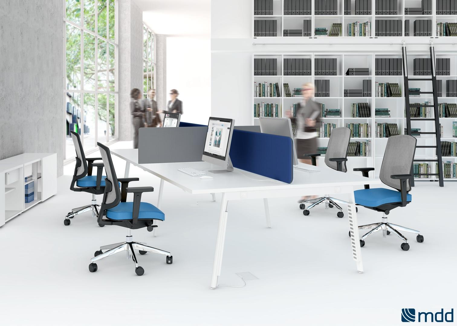 bureaux open space blanc orange. Black Bedroom Furniture Sets. Home Design Ideas