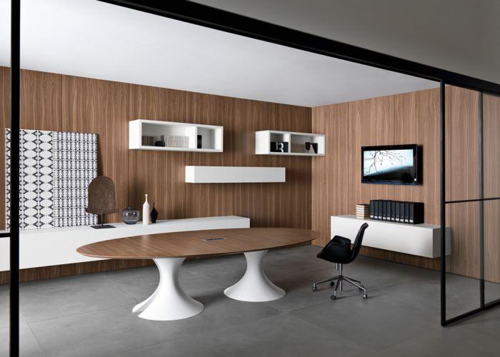 table elliptique bois. Black Bedroom Furniture Sets. Home Design Ideas